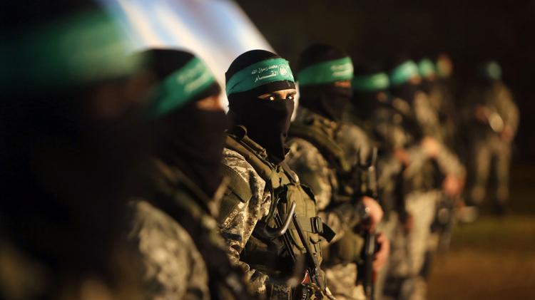 Membres des brigades Ezzedine al-Qassam du mouvement terroriste palestinien Hamas