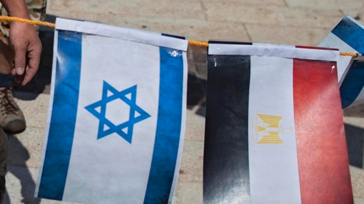 Israel, Egypt flags