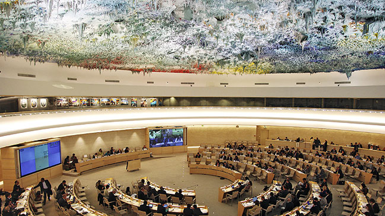 Session of UN Human Rights Council in Geneva (file)