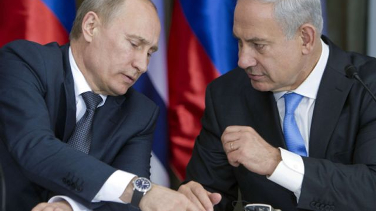 Putin, left, and his host, Netanyahu following meeting in Jerusalem, June 25, 2012.