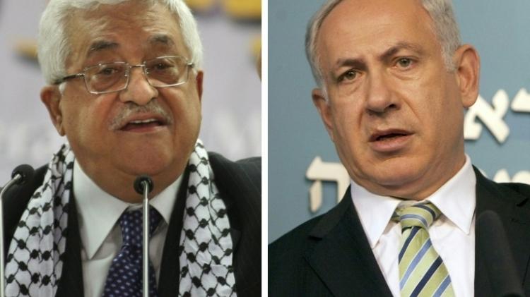 President of the Palestinian Authority Mahmoud Abbas and Israeli Prime Minister Benjamin Netanyahu
