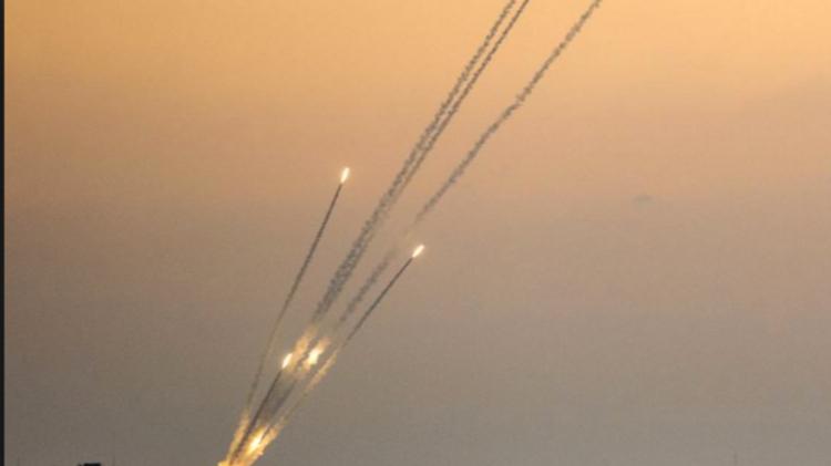 Une roquette tirée depuis Gaza en direction d'Israël en juillet 2014.