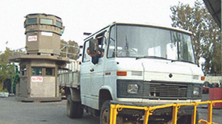 Blocage de camions