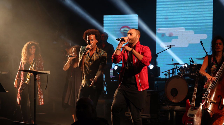Tamer Nafar performs in Haifa on October 19, 2016