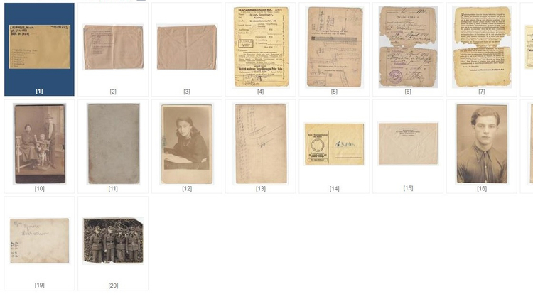 A screen shot of a few documents uploaded to the ITS online archives.