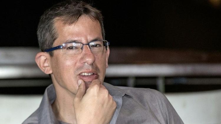 Hagai El-Ad, directeur executif deB'Tselem pendant une conférence de presse à Tel Aviv le 5 février 2016.