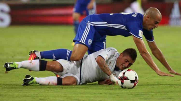 Marco Verratti lors du succès des Azzurri 3-1 en Israël, lundi en éliminatoires du Mondial-2018.