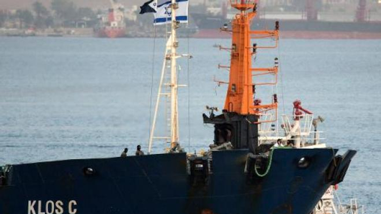 Klos C vessel intercepted by Israel en route from Iran to Sudan in March 2014