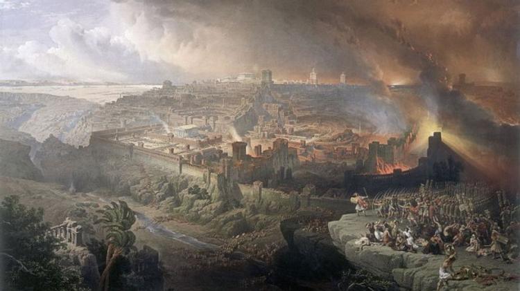 Le siège et la destruction de Jérusalem, par David Roberts, 1850.
