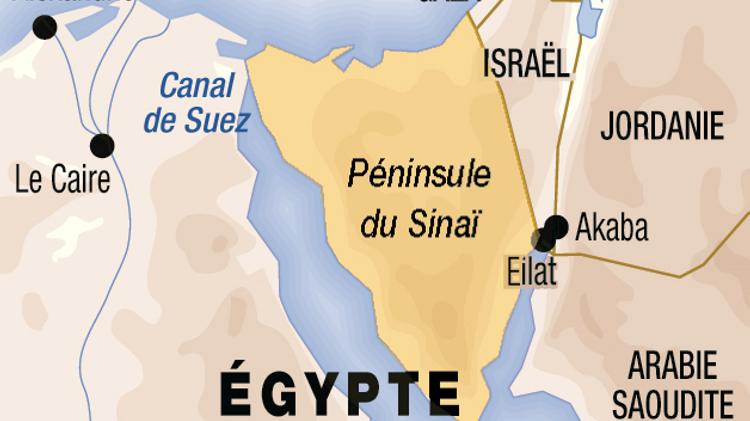 Carte du Sinaï en Egypte