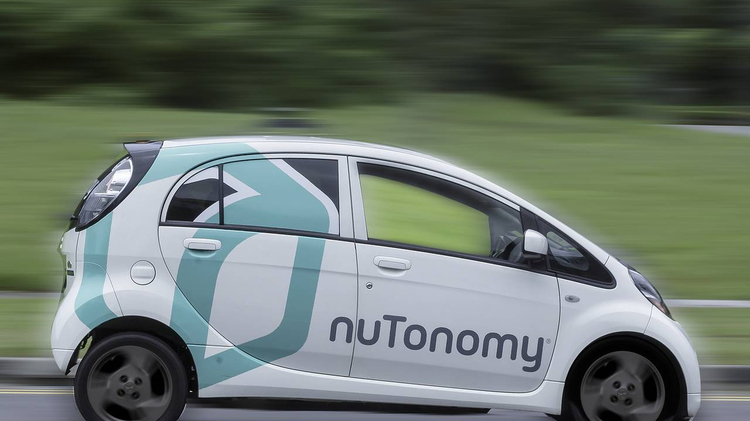 One of nuTonomy's 'self-driving' taxis