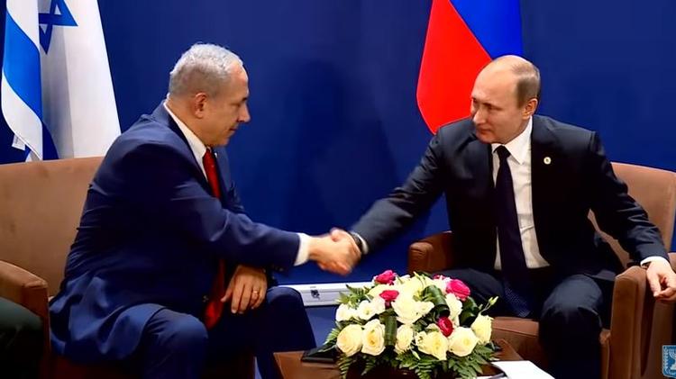 Israeli Prime Minister Benjamin Netanyahu and Russian President Vladmir Putin, November 30 2015