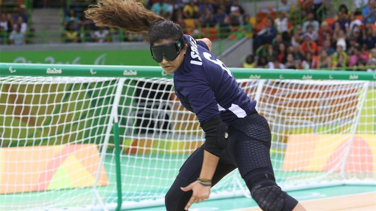Israel's women's goalball team competes at the Rio Paralympics, September 9, 2016