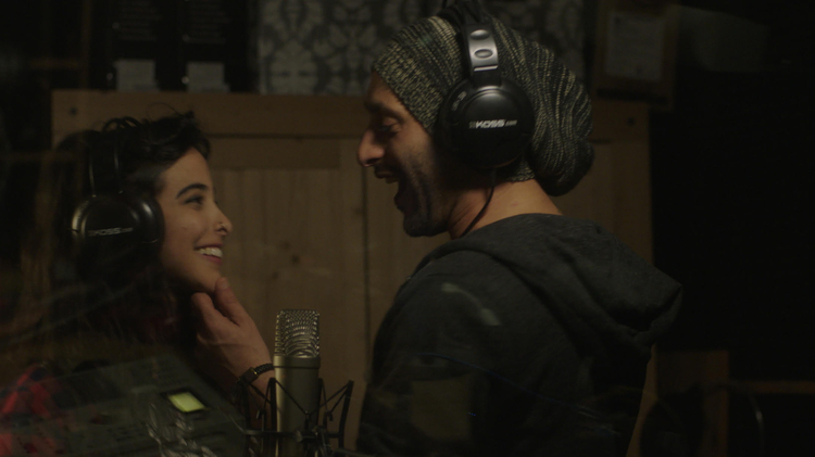 """Junction 48"" stars Tamer Nafar (L) and Samar Qupty (R) as musicians coping with the reality of life in the crime-ridden city of Lod, where Jews and Arabs live side by side"