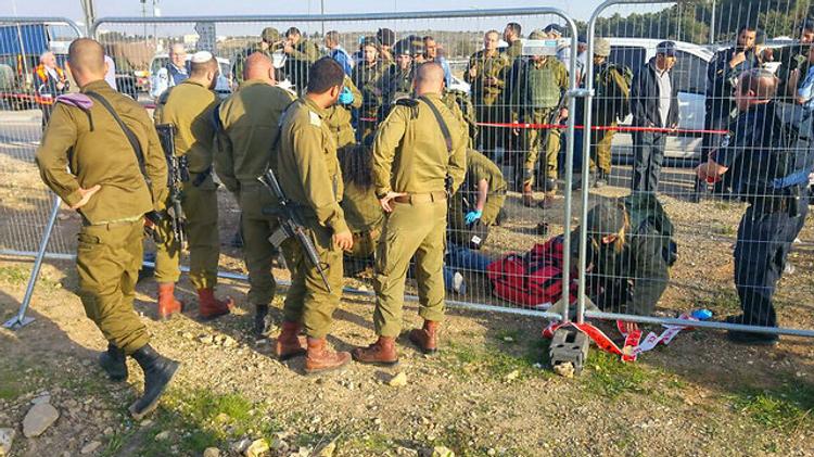 Scène de l'attaque terroriste dans le Goush Etzion où une jeune Israélienne a été tuée