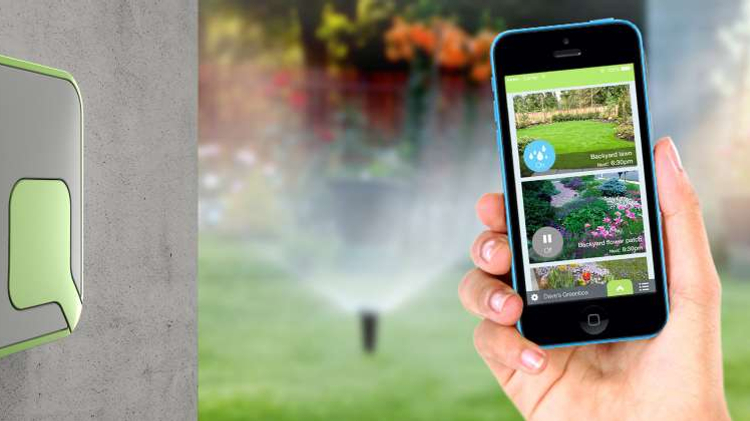 The GreenBox system allows you to water your garden from your smartphone