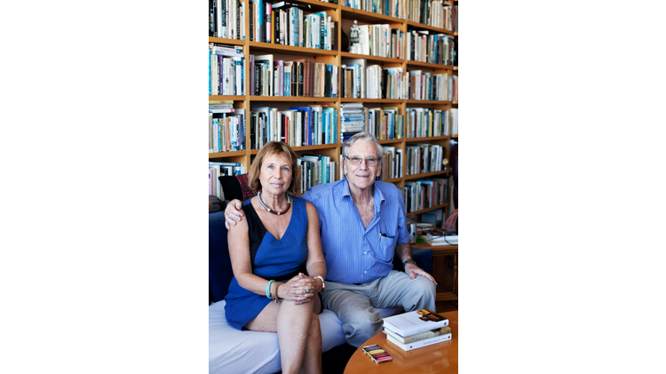 Amos Oz and his daughter, Fania Oz-Salzberger talk about secular Judaism and their love of books (photo: Loulou d'Aki)