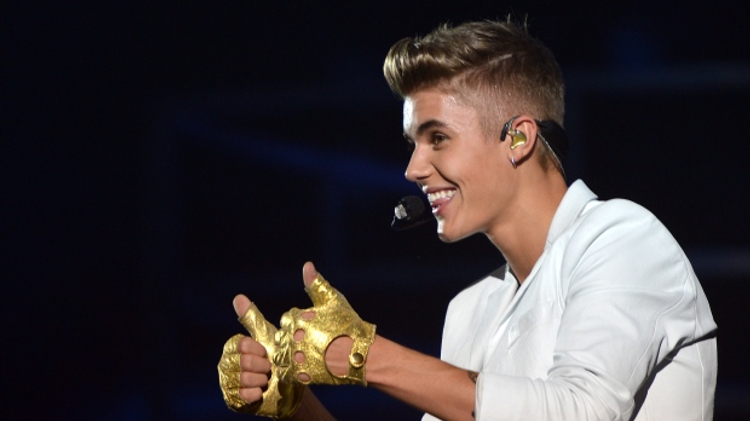 Le chanteur canadien Justin Bieber