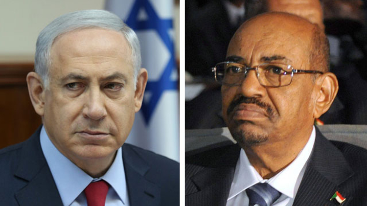 Le Premier ministre israélien Benjamin Netanyahu and President Omar al-Bashir: not the most obvious of allies.