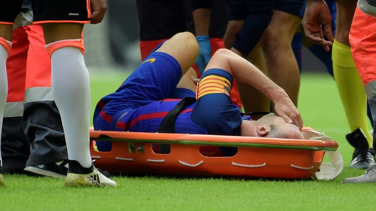 Andres Iniesta has returned to training following a month out with a knee injury
