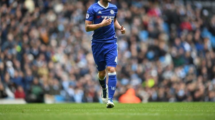 Chelsea's Cesc Fabregas in action during a Premier League match against Manchester City at the Etihad Stadium on December 3, 2016