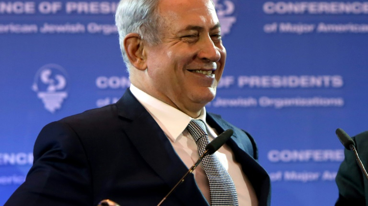 """Israel can be an energy-exporting country,"" Israeli Prime Minister Benjamin Netanyahu told the Conference of Presidents of Major American Jewish Organizations on February 14, 2016 in Jerusalem"