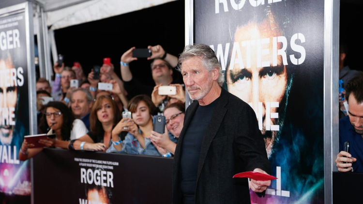 "Roger Waters attends the New York Premiere of ""Roger Waters The Wall"" at Ziegfeld Theater on September 28, 2015 in New York City"