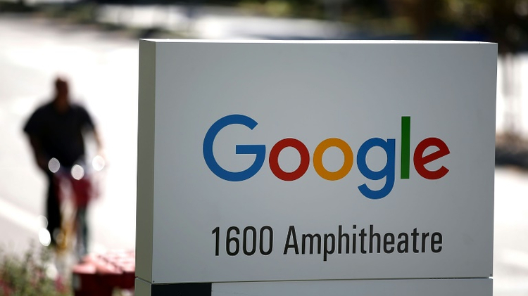 Google logo is displayed on a sign outside of the Google headquarters on September 2, 2015 in Mountain View, California