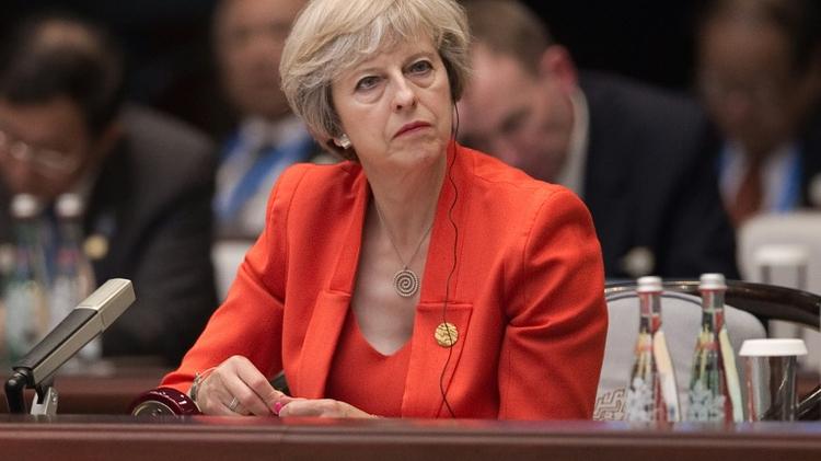 رئيسة وزراء بريطانيا تيريزا ماي في الصين لحضور قمة العشرين
