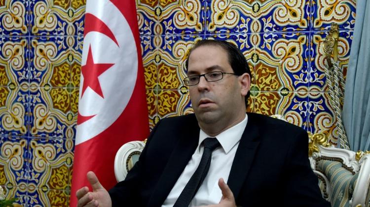 Le Premier ministre tunisien désigné Youssef Chahed, le 20 août 2016 à Carthage, près de Tunis