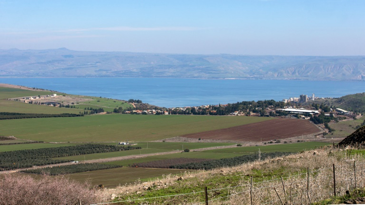Région près de Kfar Hittim en Galilée