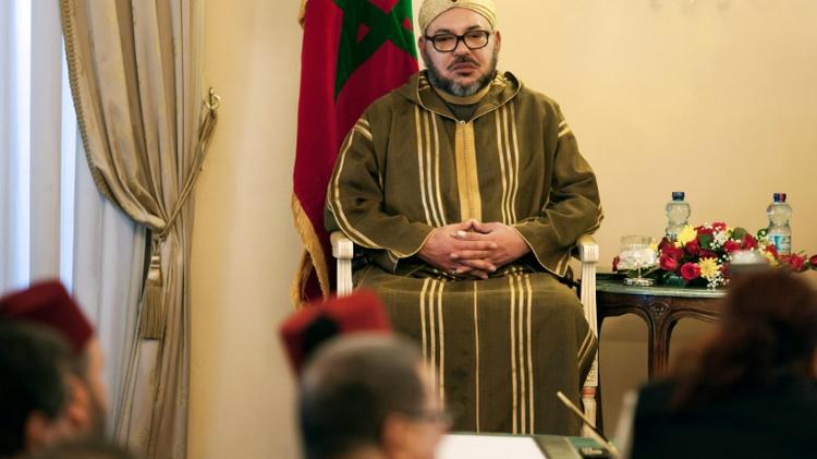 العاهل المغربي الملك محمد السادس في اديس ابابا 19 نوفمبر 2016