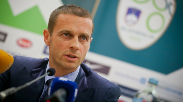 Le président de la Fédération slovène de football Aleksander Ceferin, le 24 octobre 2011 à Brdo