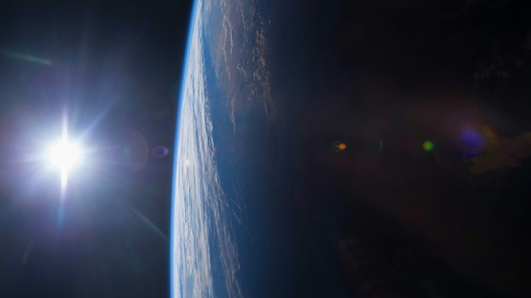 A view of the Gulf of Mexico and US Gulf Coast at sunset from the International Space Station taken by Expedition 42 Flight Engineer Terry W. Virts, in a NASA photo obtained December 17, 2014