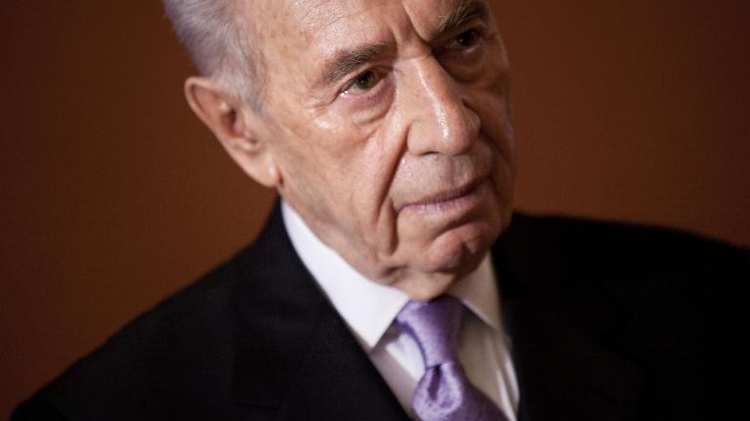 Israeli President Shimon Peres after a meeting on Capitol Hill April 6, 2011 in Washington, DC