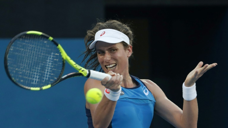 Johanna Konta of Britain capped an impressive week at the Sydney International by beating Agnieszka Radwanska 6-4, 6-2 in the final