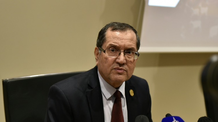 Algerian Energy Minister Noureddine Boutarfa attends an informal meeting between members of the Organization of Petroleum Exporting Countries on September 28, 2016