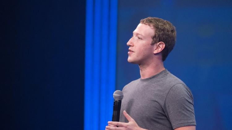 Le patron-fondateur de Facebook, Mark Zuckerberg à San Francisco (Californie), le 25 mars 2015