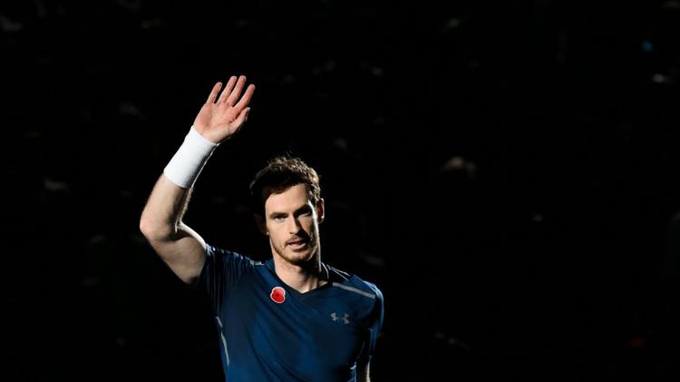 Le Britannique Andy Murray après son succès en finale du tournoi de Paris-Bercy, le 6 novembre 2016