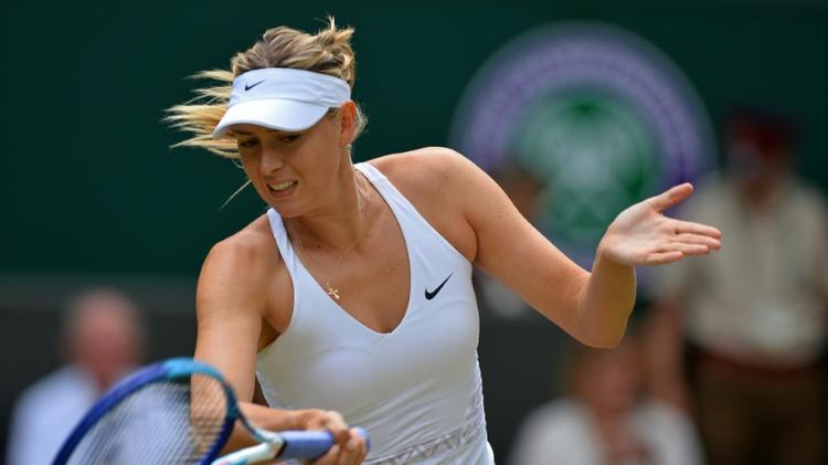 Maria Sharapova, le 7 juillet 2015 à Wimbledon face à Coco Vandeweghe