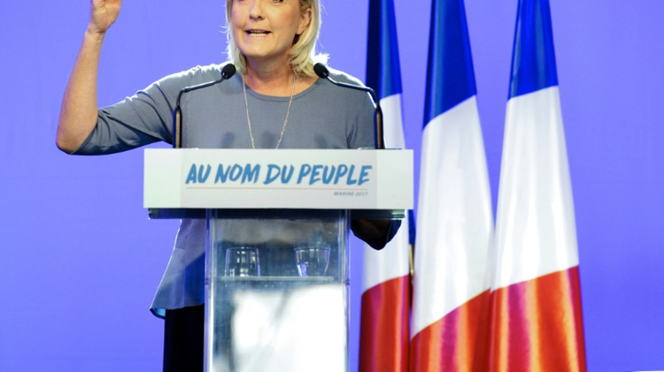 Marine Le Pen, president of the French far-right National Front party
