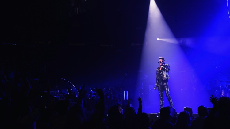 Adam Lambert performs with Queen at Madison Square Garden on July 17, 2014 in New York