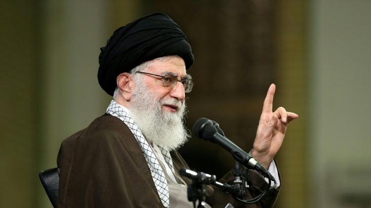 Iran's supreme leader, Ayatollah Ali Khamenei speaks during a meeting with members of the Basij force, a volunteer paramilitary organisation in Tehran on November 22, 2016