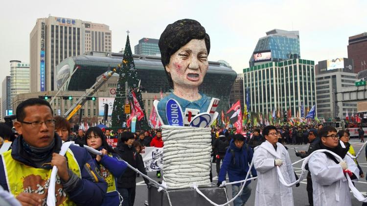 مظاهرات معارضة لرئيسة كوريا الجنوبية