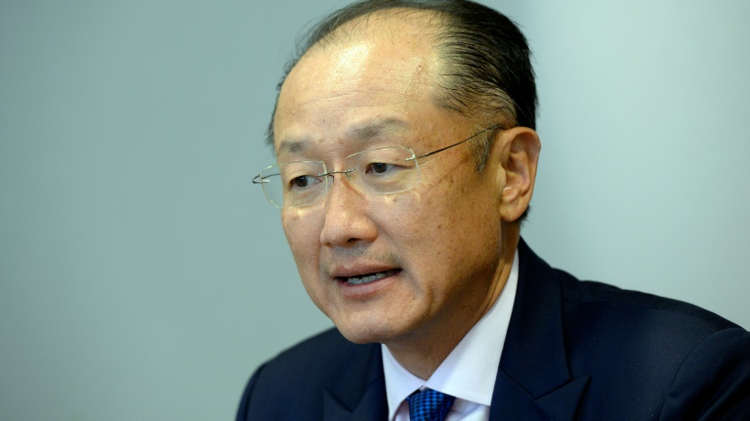 World Bank Group's president Jim Yong Kim takes part in a meeting with European Union Council President at the European Union Council building in Brussels on June 15, 2016