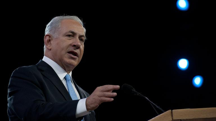 Israeli Prime Minister Benjamin Netanyahu addresses the Israel Public Affairs Committee (AIPAC) policy conference in Washington on March 4, 2014