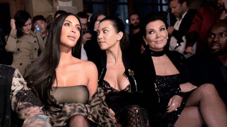 Kim Kardashian and family at Paris Fashion Week, September 29 2016