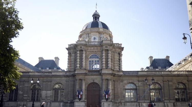L'entrée du Palais du Luxembourg, siège du Sénat, le 27 septembre 2014 à Paris