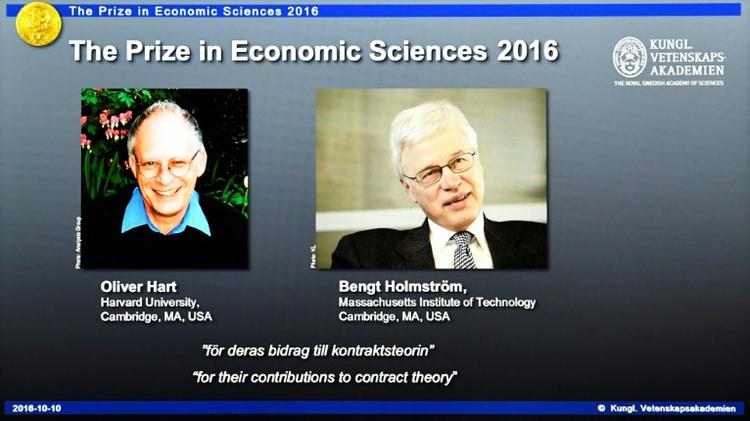 Oliver Hart and Bengt Holmstrom