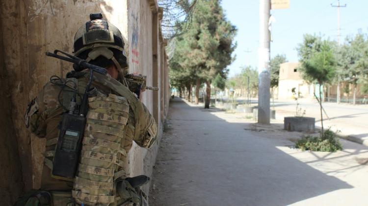 Un commando de l'armée afghane, durant les combats contre les Talibans à Kunduz, en Afghanistan, le 4 octobre 2016